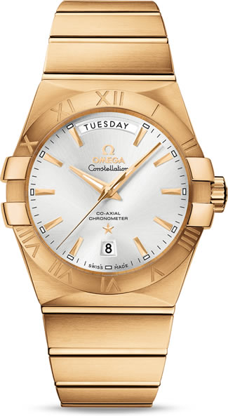 Shinning Omega Yellow Gold Watch