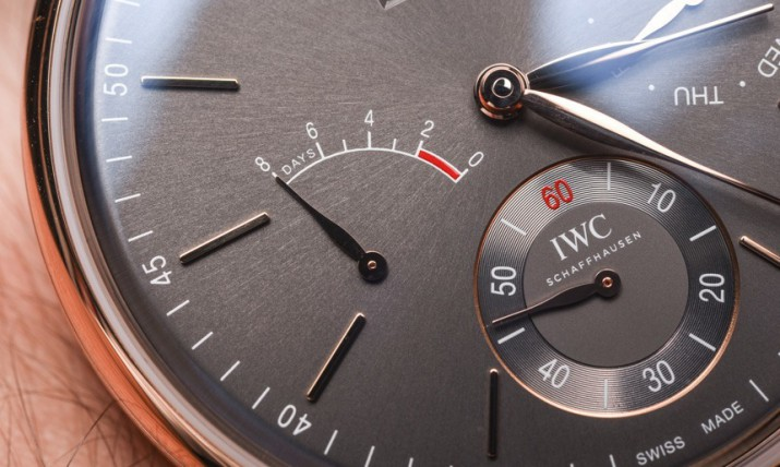 Noble And Wearable IWC Portofino Hand-Wound Day & Date Automatic Watch