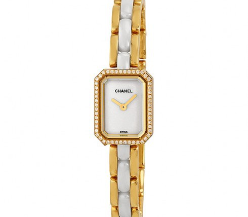 Chanel 18kt yellow gold slim watch