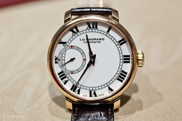 Front of Chopard L.U.C 1963 Chronometer 43mm rose gold watch