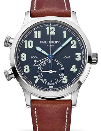 Front of Patek Philippe Calatrava Travel Time reference 5524