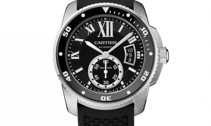 Front of Cartier Calibre de watch for diver