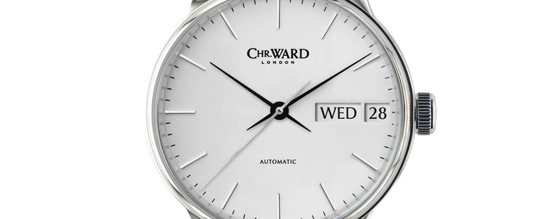 Front of Christopher Ward C9 Harrison Big Day-Date watch