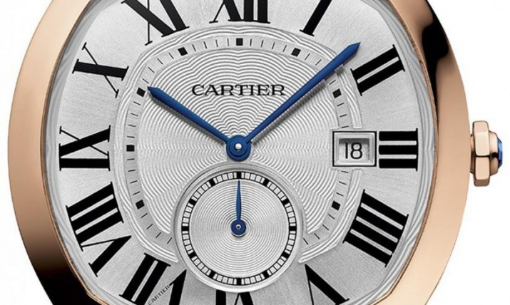 Front of Cartier Drive De Cartier watch