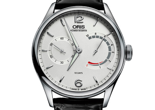 Front of Oris 110 Years limited edition steel watch