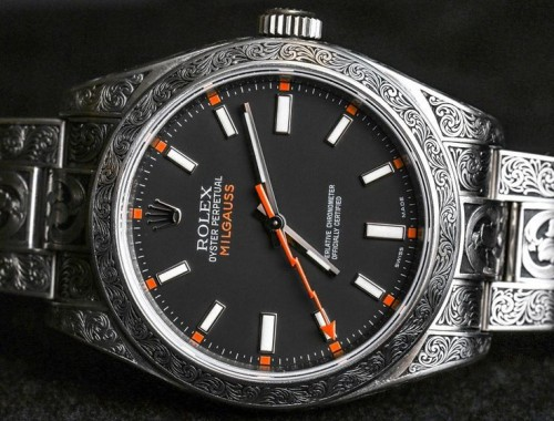 Rolex Milgauss 116400 customized watch