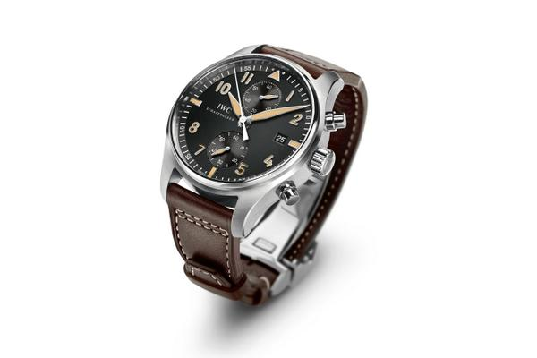 Side of IWC Collectors' Forum Pilots Chronograph CF3 pilot watch