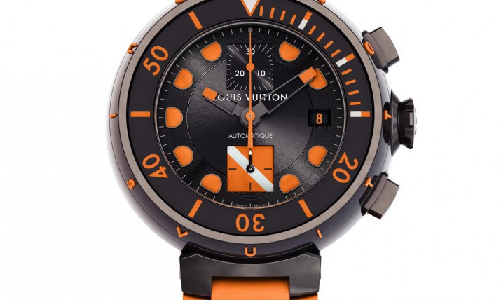 Front of Louis Vuitton Tambour Diving II Chronograph