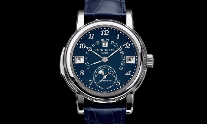 Front of Patek Philippe 5270 with blue dial
