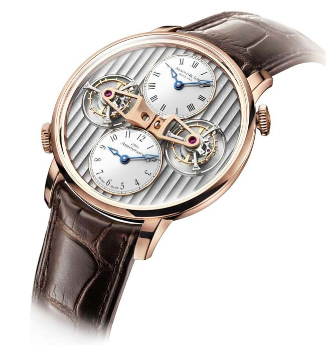 Front of Arnold & Son Double Tourbillon Escapement Dual Time