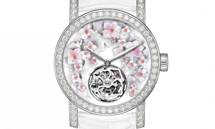 Front of Chaumet Hortensia 18k white gold tourbillon
