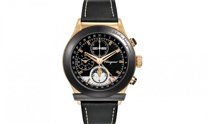 Front of Ferragamo 1898 Moonphase chronograph