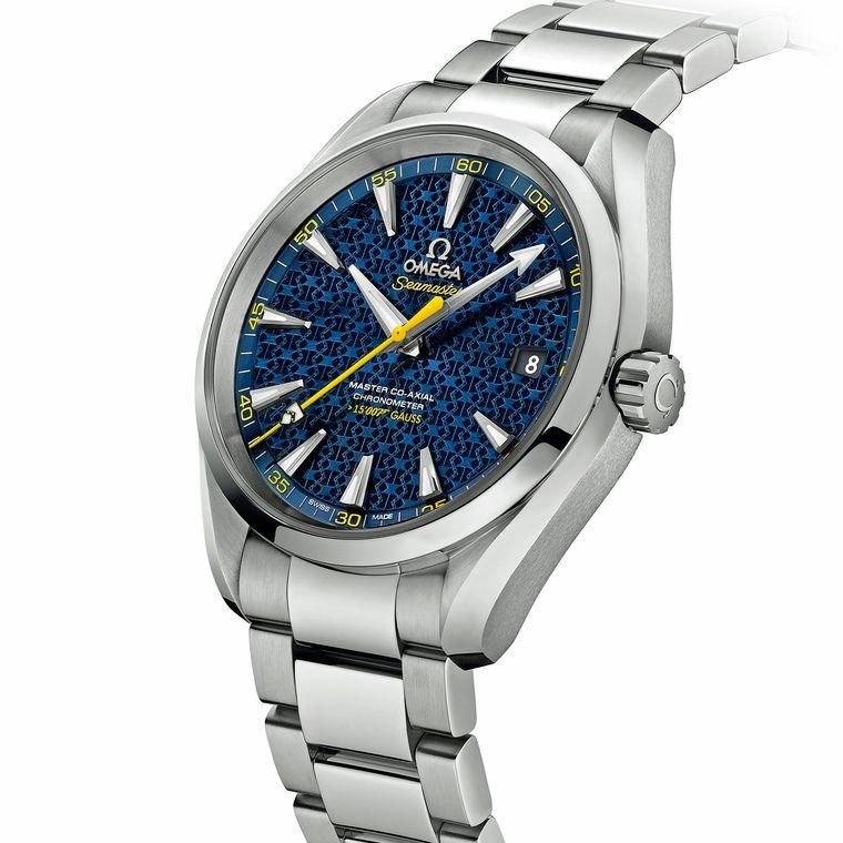Side of Omega James Bond blue watch