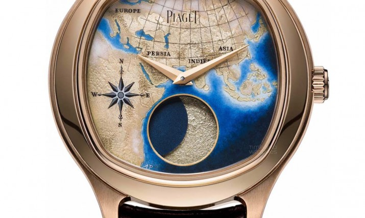 Front of Piaget Emperador Coussin XL Lune Astronomique watch
