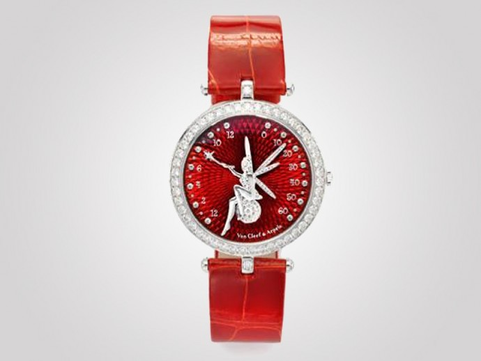 Front of Van Cleef & Arpels Féerie Rouge watch
