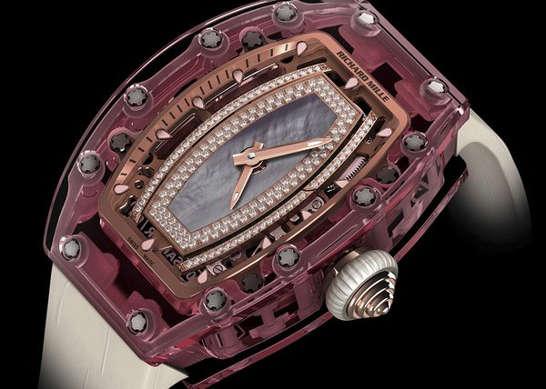 Side of Richard Mille RM 07-02 Pink Lady Sapphire