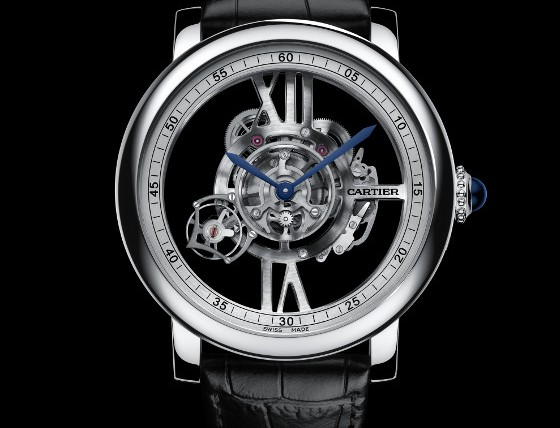 Front of Cartier Rotonde De Cartier Astrotourbillon Skeleton watch