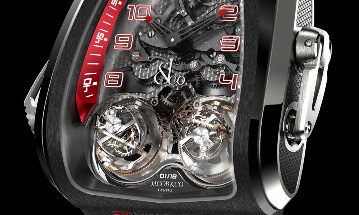 Side of Jacob & Co triple axis tourbillon