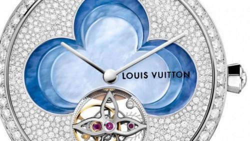 Louis Vuitton Blossom blue watch dial