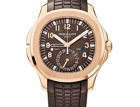 front of Patek Philippe - Aquanaut Travel Time Ref. 5164R-001