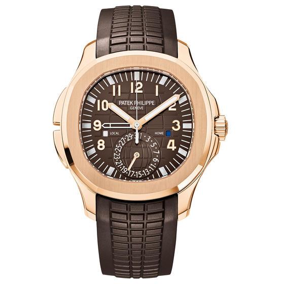front of Patek Philippe - Aquanaut Travel Time Ref. 5164R-001