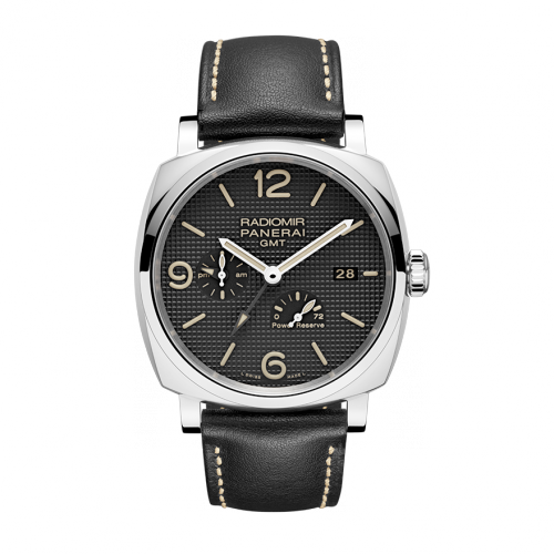 Front of Panerai Radiomir 1940 3 days GMT Automatic Acciaio