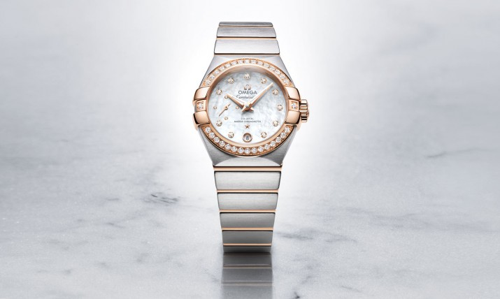Front of Omega Constellation Ladies Master Chronometer