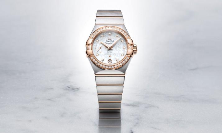 Front of Omega Constellation Ladies Master Chronometer