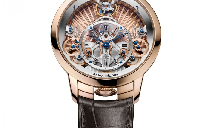 Front of Arnold & Son Instrument Time Pyramid Guilloché