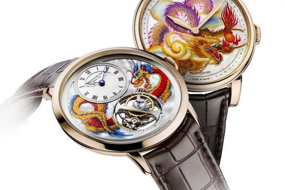 Arnold & Son Métiers d'Art Dragon Unique Pieces hands on