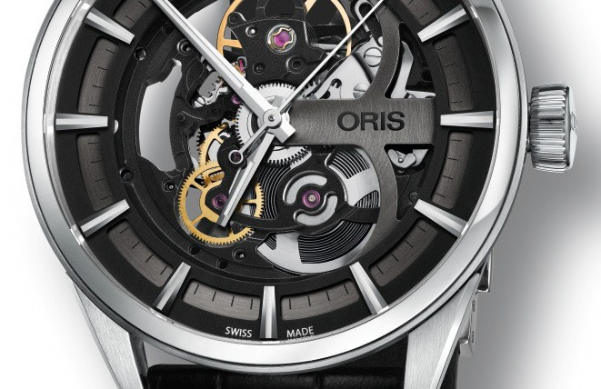 Front of Oris Artix Skeleton watch