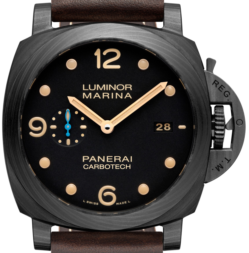 Front of Panerai Luminor Marina 1950 Carbotech three Days Automated PAM661