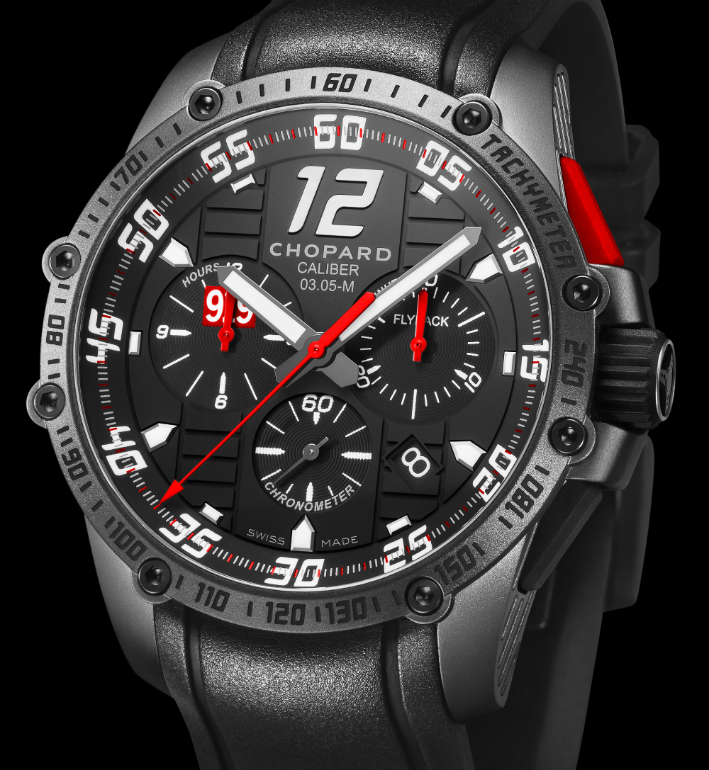 Side of Chopard Superfast Chrono Porsche 919 Black Edition