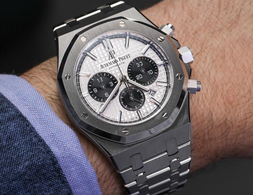 Audemars Piguet Royal Oak Chronograph Watch In Steel Hands