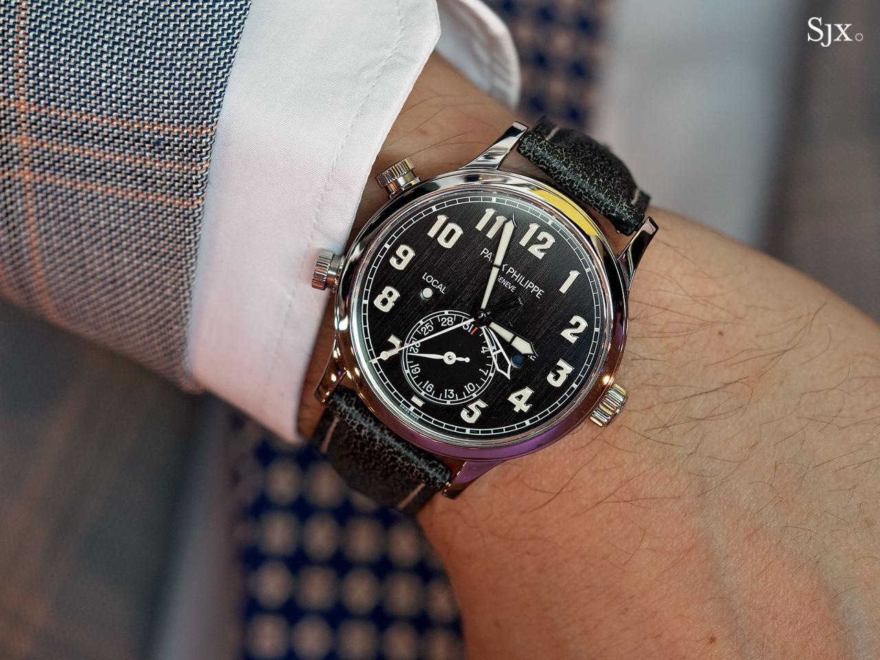 Patek Philippe Calatrava Pilot Travel Time Titanium 5524T-11