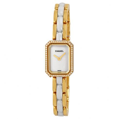 Chanel 18kt yellow gold slim watch