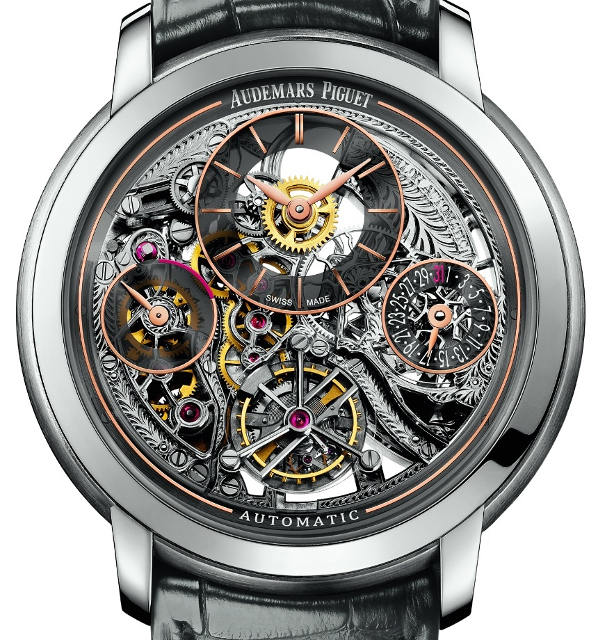 Front of Audemars Piguet Jules Audemars Tourbillon Openworked watch