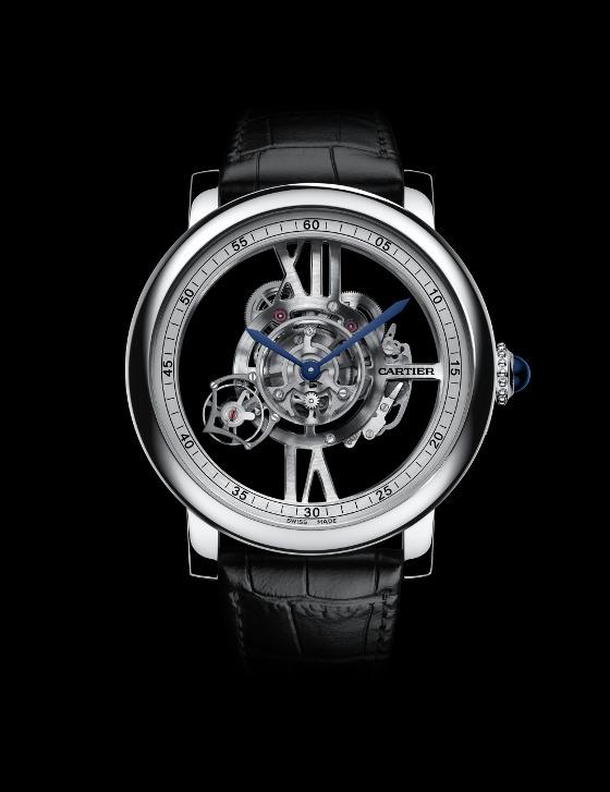 Front of Cartier Rotonde De Cartier Astrotourbillon Skeleton watch
