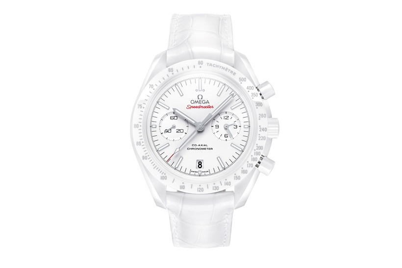 Front of Omega Speedmaster White Side Of The Moon watch 02