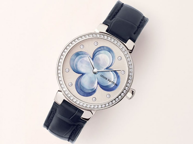 Louis Vuitton Blossom watch in blue