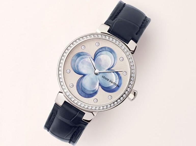 Louis Vuitton Blossom watch in blue