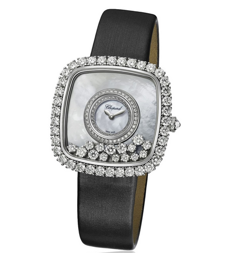 Front of Chopard Happy Diamonds watch